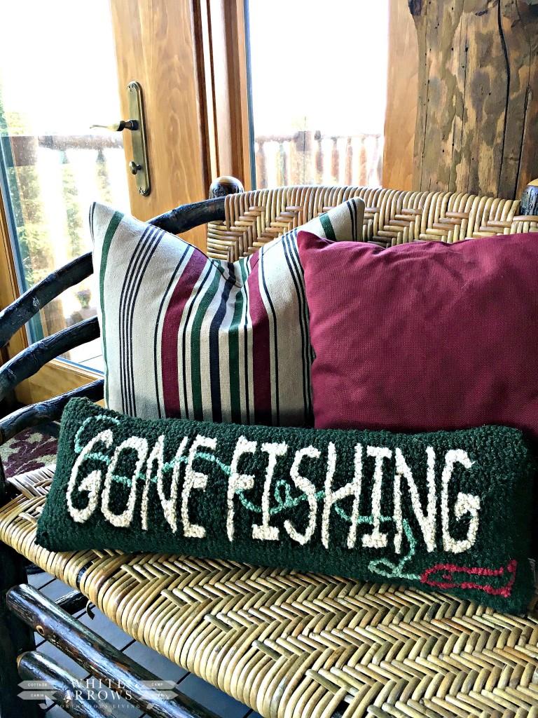Gone Fishing Pillow, Lake Home