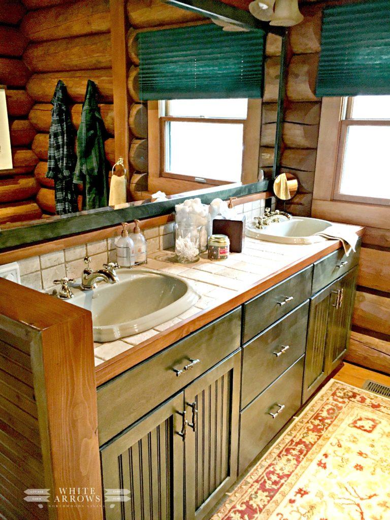 Master Bathroom Vanity, Log Home