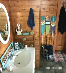 Lake House Style- Nautical Bathroom Makeover