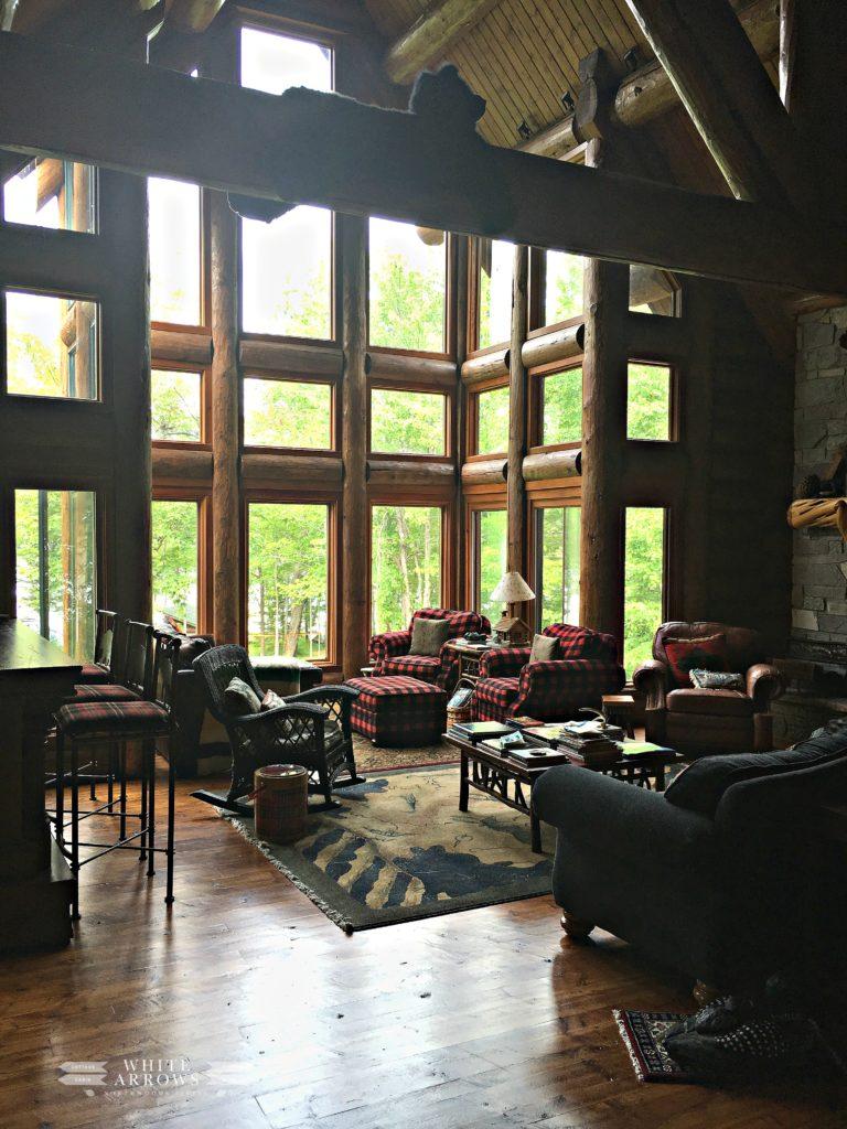 Great Room, Log Cabin, Log Home