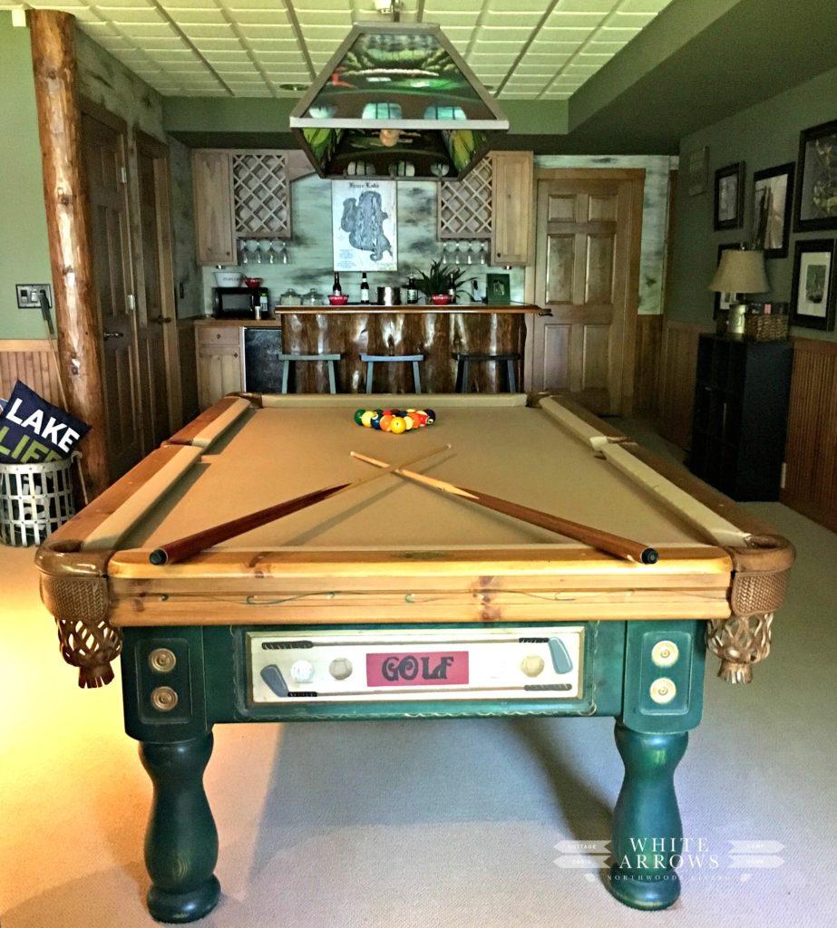 Pool Table, Rec Room, Basement