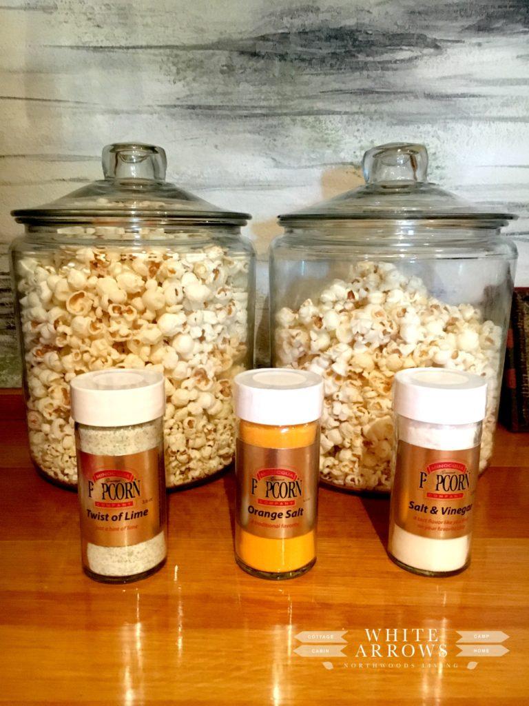 Popcorn Bar, Popcorn Tub, Popcorn Salt, Family Room