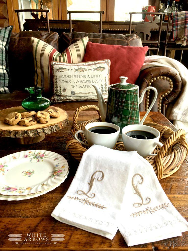 Spring Decor, Plaid, Coffee Pot, Tea Pot, Coffee Service, Tea Service, Plaid Coffee Pot, Cabin Decor, Cabin Style