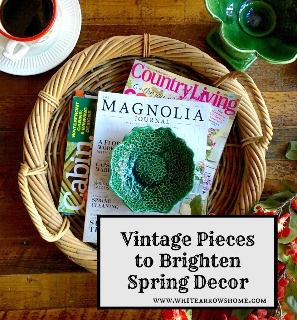Spring Decor, Vintage Decor, Vintage, Green Decor