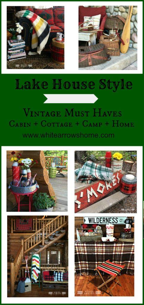 Lake House Style, cabin, cottage, lake house, vintage, camp style, vintage decor