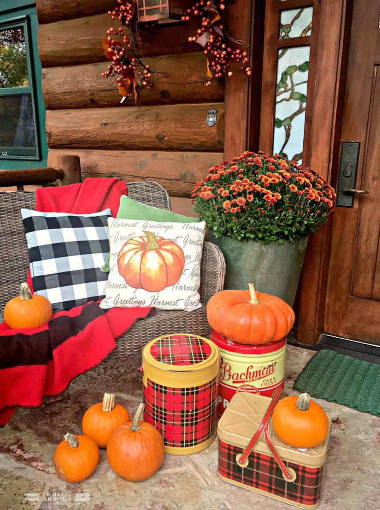 Fall Porches & Patios Home Tour ~ White Arrows Home