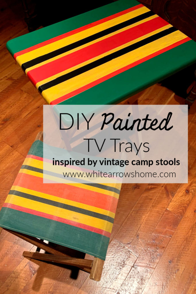 Painted Tv Trays Made New Again White Arrows Home